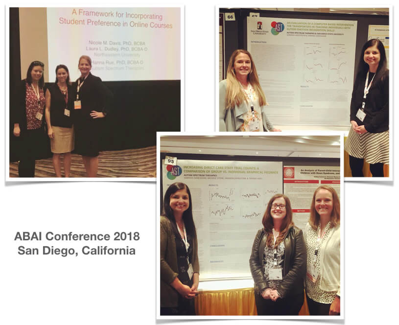 Dr. Hanna Rue and Team AST at ABAI in San Diego